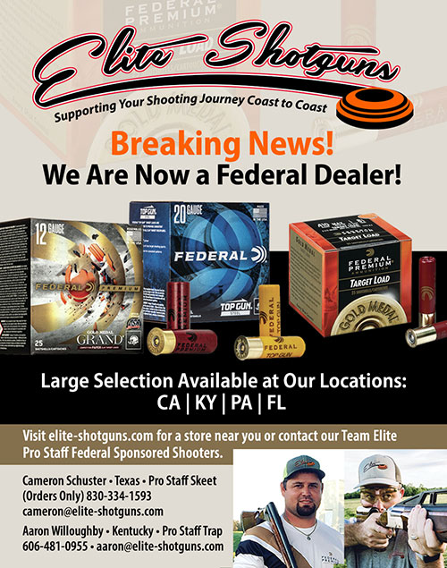 Elite Shotguns is Now a Dealer for Federal Ammunition!