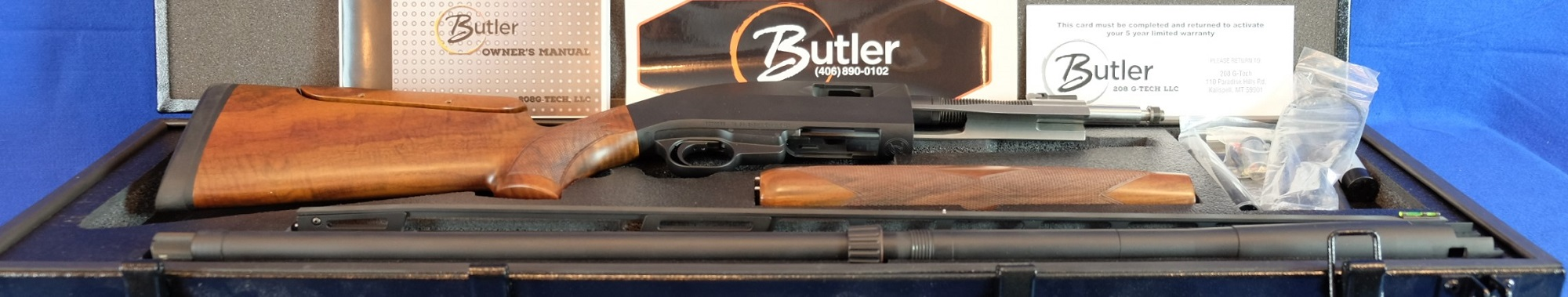 BUTLER (Made in the USA) 12 Gauge Black ( 2 Shell Semi)  30″ Barrel  Adjustable Comb and Rib – #B000065